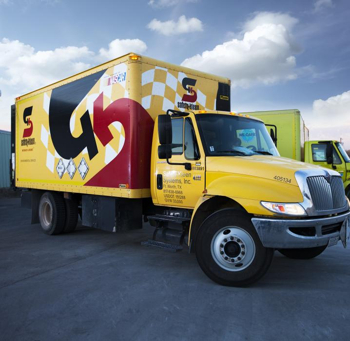 Safety-Kleen Yellow Box Truck